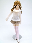 LP - DD - White Warm Knit Sweater and Mini Skirt Set