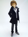 LPB - SD13B - Black Trench Coat Set