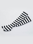 LPC - SD/SD13G/SDGrG/SD16G/ DDS/DD/DDdy - Thigh-High Socks (Black & White Stripes) (Re-release)