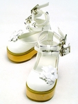 SB-MSD-083 - White Double Strap Sandals with Flower