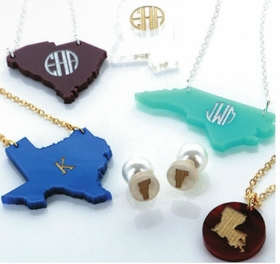 Acrylic Monogrammed Necklaces