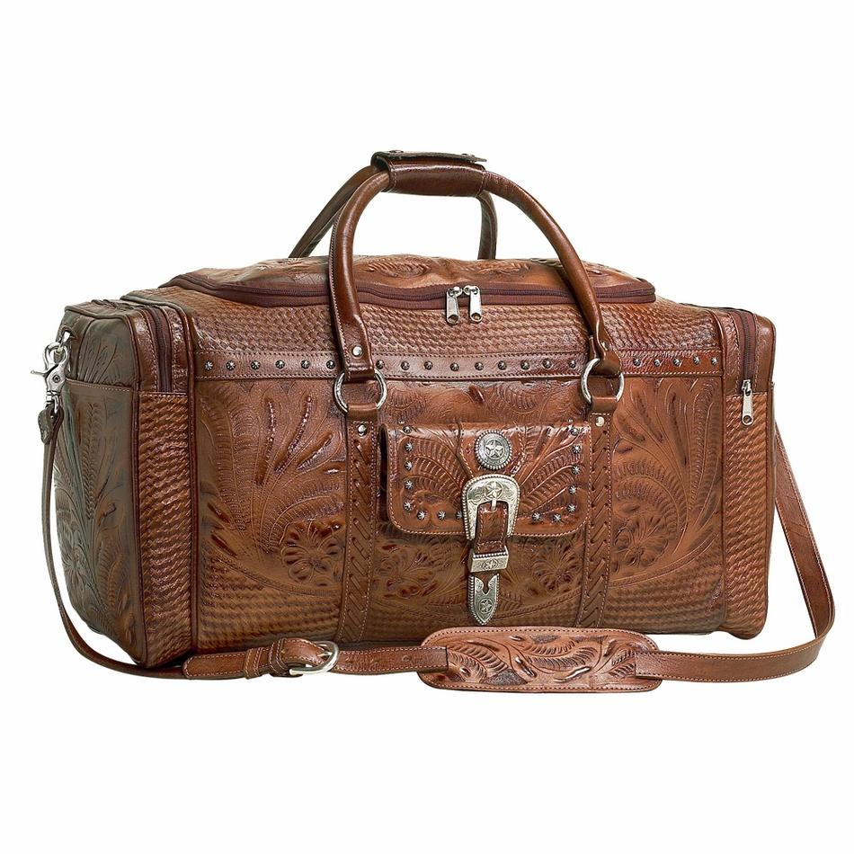 AW8565721) ''Retro Romance'' Western Leather Rodeo Bag by American ...