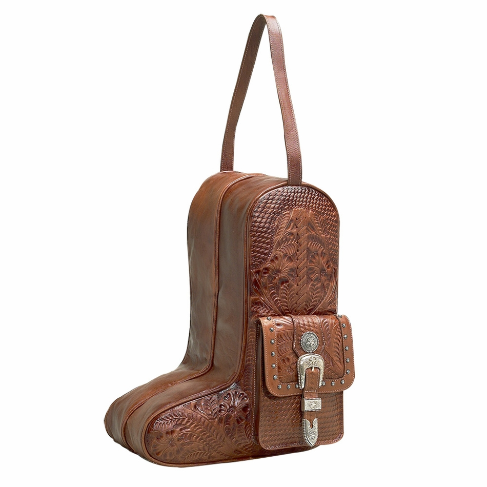 Aw8565736 Retro Romance Western Leather Boot Bag By