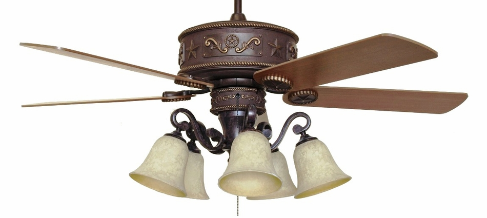Cc Kvwst Lk37a Western Star Lighted Ceiling Fan With Light Kit