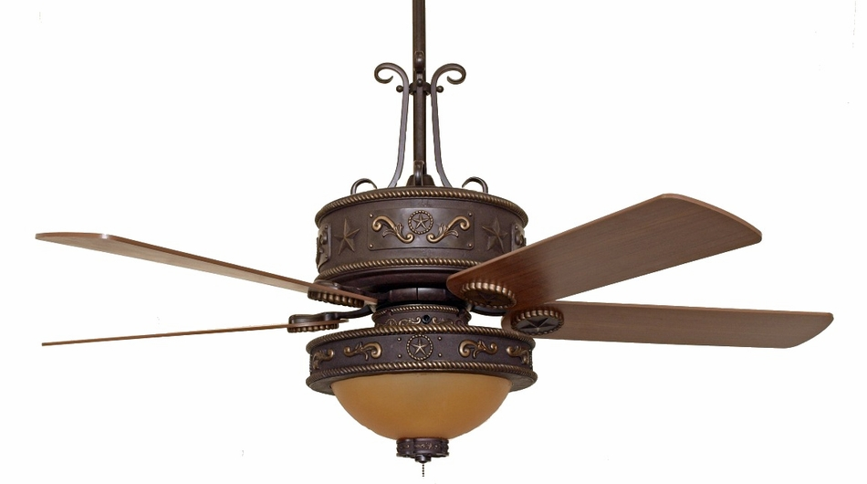 CC-KWST-LK515AMB) Western Star Ceiling Fan with Light Kit