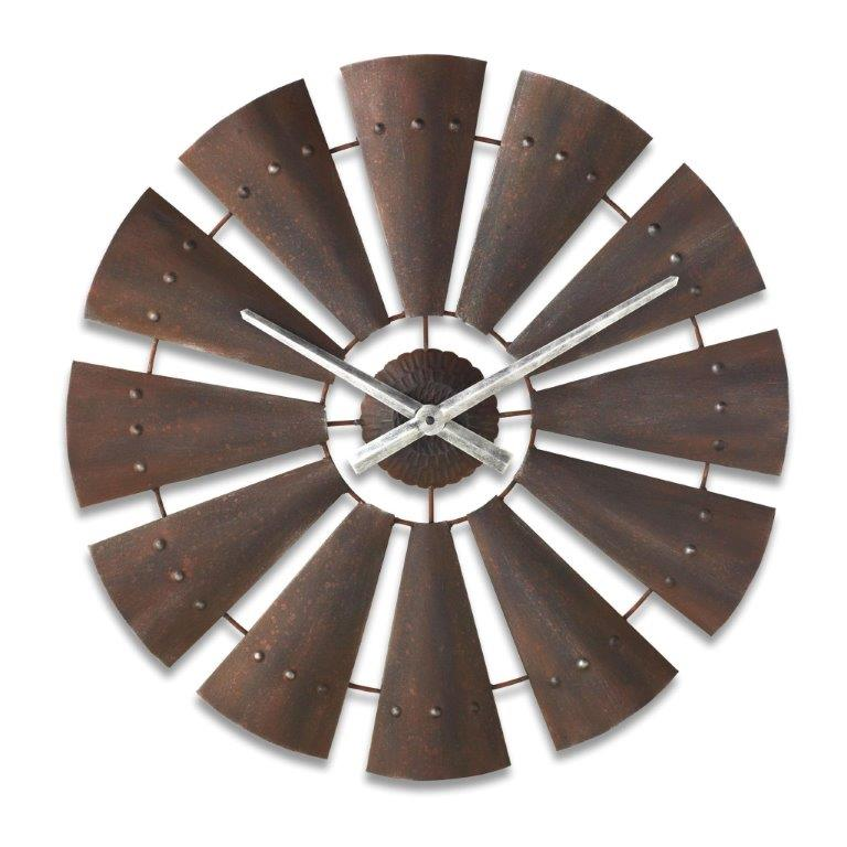 Western Windmill Wall Clock Wildwestliving Com