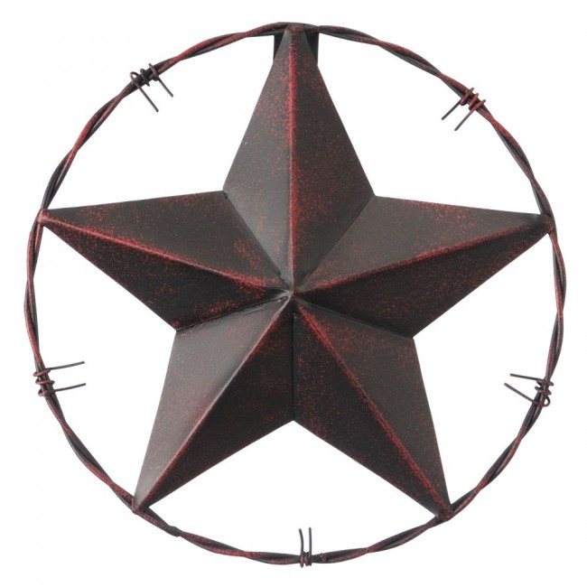 Jt 87 1906 Western Metal Star With Barb Wire 8 Diameter