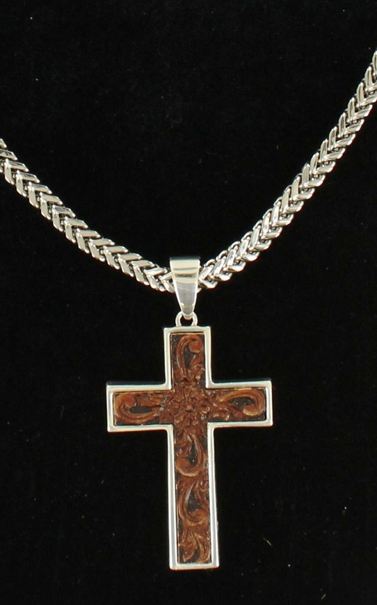 mfw32104 s western scrolled cross necklace