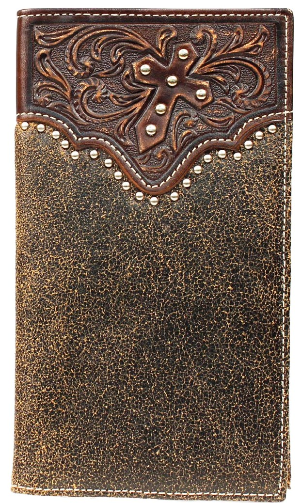 Mfwa3513602 Western Tooled Overlay Rodeo Wallet With