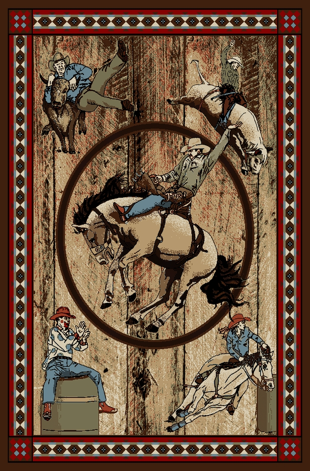 Mr Ad6078 8x10 Rodeo Western Area Rug 7 10 X 9 10