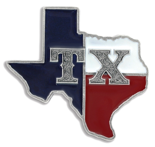 Msa482 State Of Texas Shaped Belt Buckle