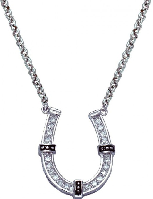 msnc1187 horseshoes in rings western necklace