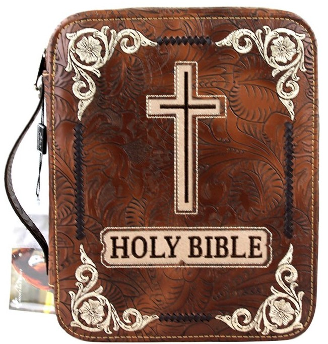 (MWDC002-OTBR) Western Bible Cover - Brown Holy Bible Side Cover