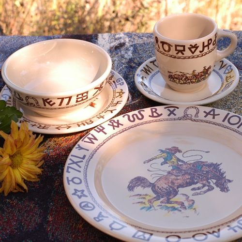 (TW-RODEO) ''Rodeo'' Western 5-Piece Place Setting