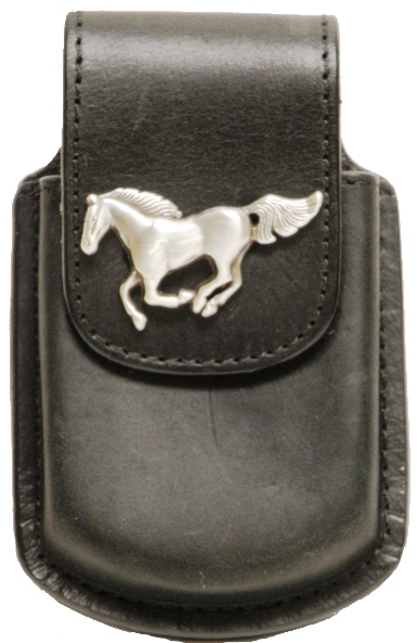 Wfapc321ho Western Black Cell Phone Holder With Horse