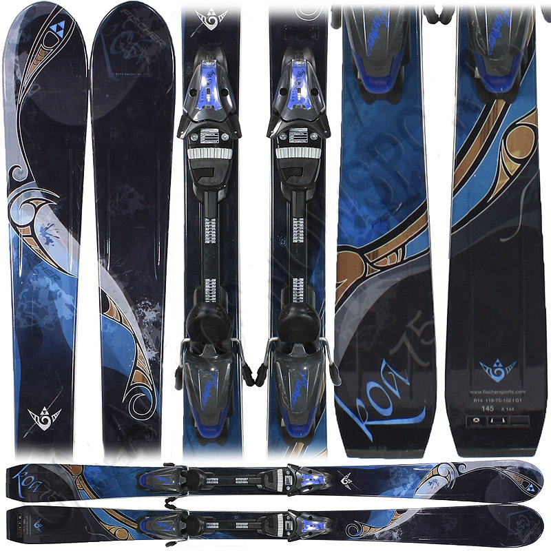 Demo 2011 Fischer Koa 75 Skis Black/Blue
