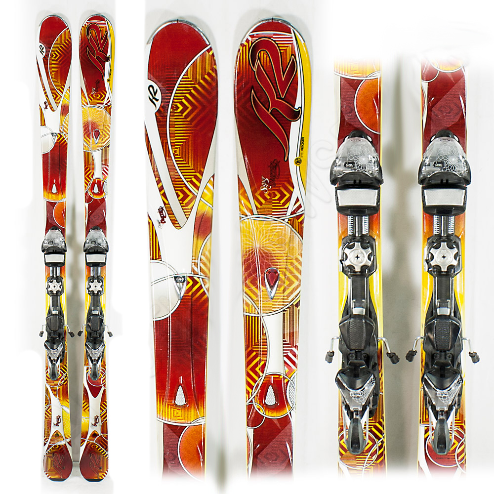 Used Performance 2012 K2 Super Burnin Skis With Bindings