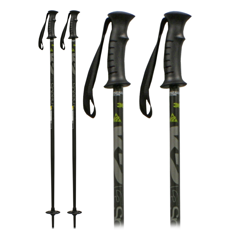 New K2 3 Speed Black Poles Kids Junior