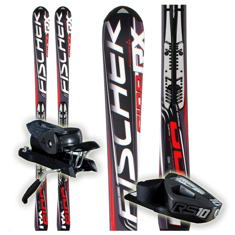 New 2012 Fischer RX Fire FP9 Skis With Bindings Black Red