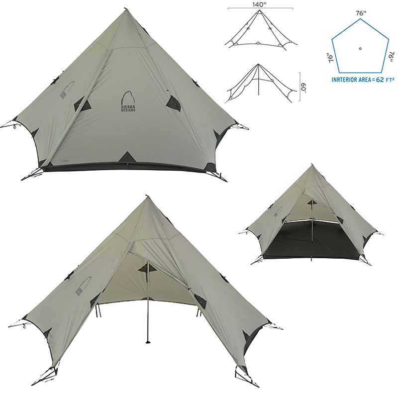 New 2012 Sierra Designs Origami 3 Tarp Ultralight Tent Grey