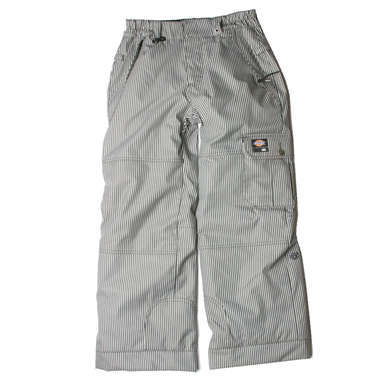 New 686 Boys Dickies Double Knee Stripes Insulated Pant Black White