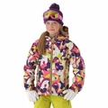 New 686 Paul Frank Girls Julius Collage Insulated Jacket