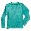New Girls 686 Rings Baselayer Top Seafoam