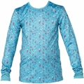 New Girls Roxy Plain Jane Top Blue Flowers