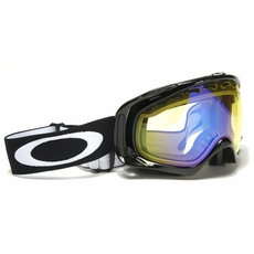 New Oakley Crowbar Jet Black High Intensity Yellow Goggles