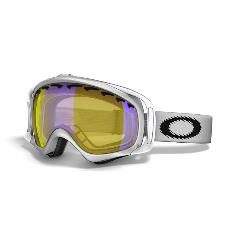 New Oakley Crowbar Matte White High Intensity Yellow Goggles