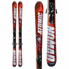 Sample 2012 Atomic Crimson Ti Skis with Bindings Orange