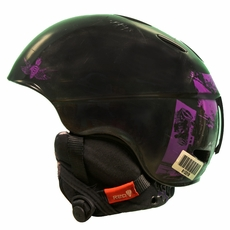 Used Burton Red Hi-Fi Helmet Black Purple