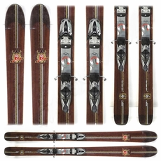 Used Performance Elan 999 Wood Series 2009 Skis with Bindings Brown