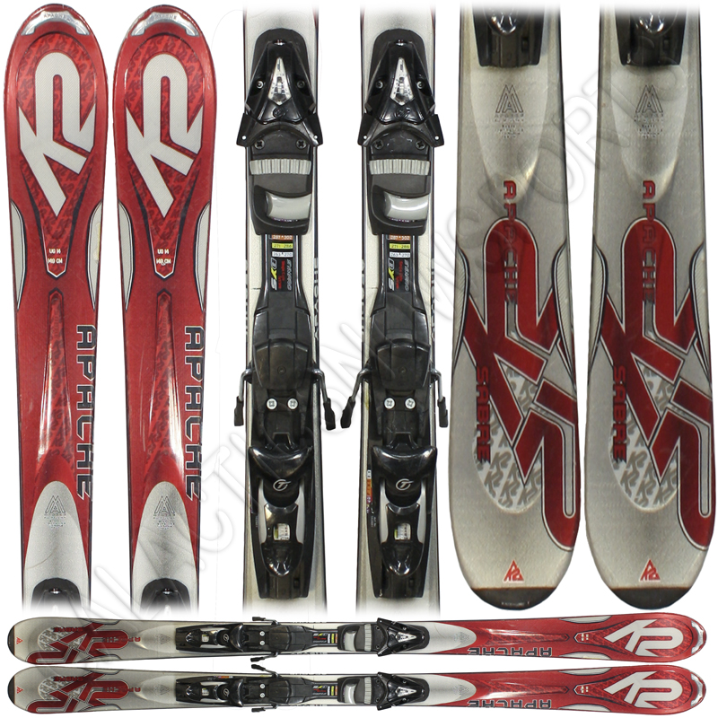 Used K2 Apache Sabre Skis with Tyrolia Bindings