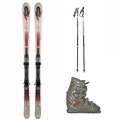 Used K2 Comanche Skis with Bindings + Dalbello MX Super Ski Boots + adjustable poles Package Complete