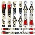 Used K2 Indy JSL13 Junior Skis with Bindings