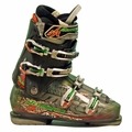 Used Nordica Hot Rod 9.5 Ski Boots Grey Green Orange