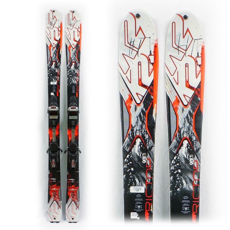 Used Performance 2014 K2 AMP Rictor 90XTi Skis with Bindings