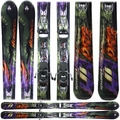 Used Performance Nordica Hot Rod Helldiver 2011 Skis Green Purple