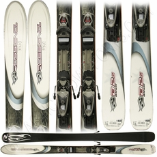 Used Rossignol Bandit B2W Women Skis with Rossignol Bindings