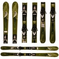 Used  Rossignol Bandit Skis with Bindings Green