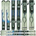 Used Rossignol Roc X Skis with Rossignol Bindings Blue