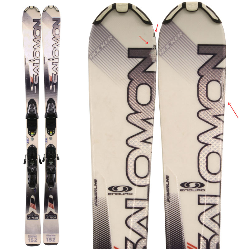 Used Salomon Enduro LX 750R Skis with Bindings Bargain Bin