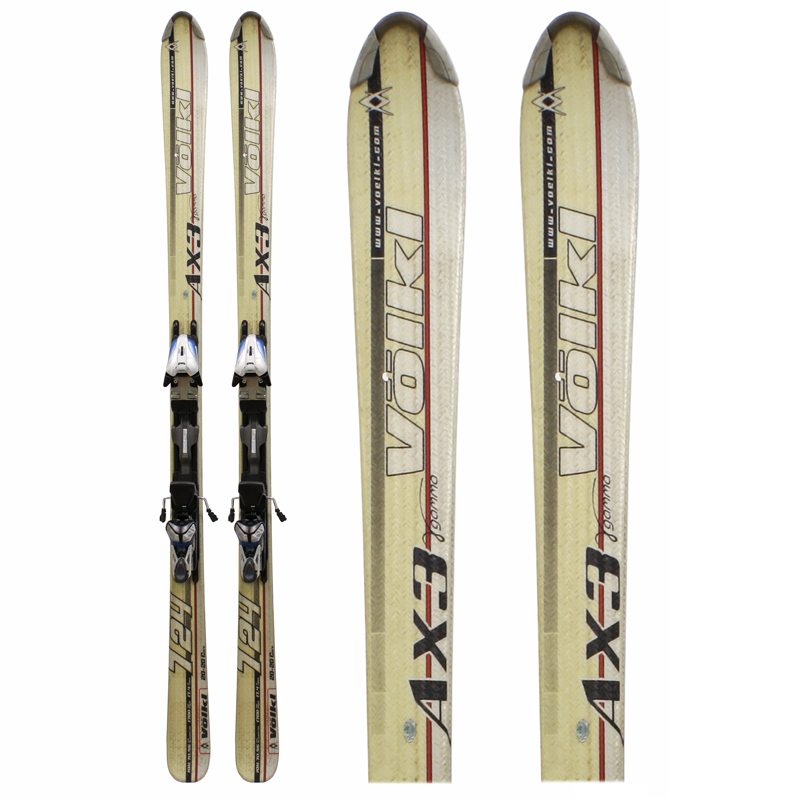 Used Volkl 724 AX3 Gamma Women's Skis with Bindings White