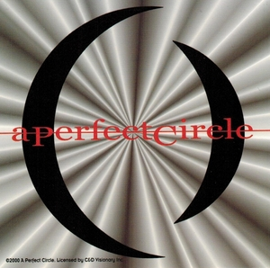 A PERFECT CIRCLE SILVER RAYS STICKER