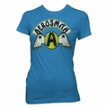 AEROSMITH CIRCLE A WITH WINGS WOMEN'S TISSUE T-SHIRT