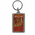 AEROSMITH TOYS LUCITE RECTANGLE KEYCHAIN