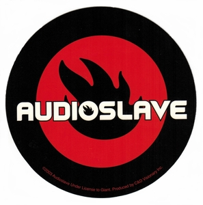 AUDIOSLAVE ROUND FLAME LOGO STICKER