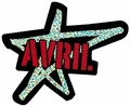 AVRIL LAVIGNE STAR GLITTER STICKER