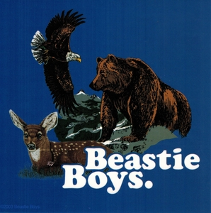 BEASTIE BOYS ANIMAL IMAGE STICKER